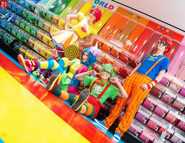 Tricksters: A Candy Retreat by theDreamerWorld, via Flickr #Homestuck Dirk Jake Jane Roxy