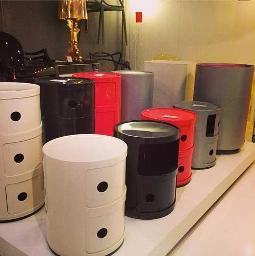 Componibili fra Kartell er et super genialt opbevaringsmøbel. #componibili #kartell #design #indretning