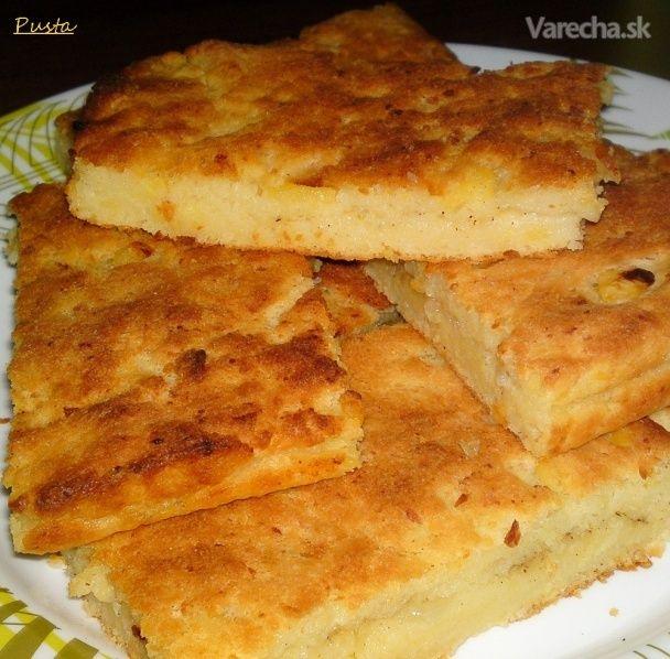 Slaný zemiakový koláč plnený cibuľou (fotorecept)