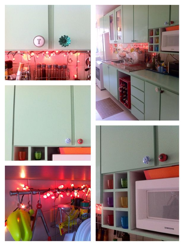 Como pintar:  http://www.casadecolorir.com.br/2012/05/era-uma-vez-uma-cozinha-rosa.html  http://www.casadecolorir.com.br/2012/05/como-pintar-geladeira.html