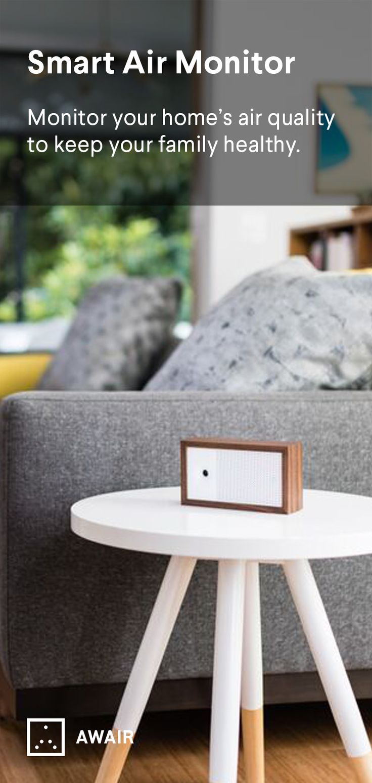 Awair is a smart air monitor device to keep your indoor air quality stable. It alerts you when air is bad and can even work with other smart devices to automatically control your home's air to keep your family healthy. www.getawair.com