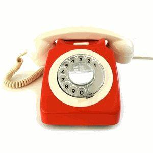 Red/Ivory Vintage Telephone