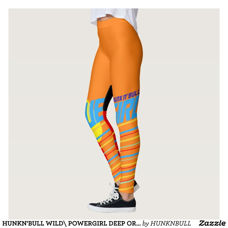 HUNKN'BULL WILD\ POWERGIRL DEEP ORANGE  LEGGIGNS LEGGINGS : Beautiful #Yoga Pants - #Exercise Leggings and #Running Tights - Health and Training Inspiration - Clothing for #Fitspiration and #Fitspo - #Fitness and #Gym #Inspo - #Motivational #Workout Clothes - Style AND comfort can both be achieved in one perfect pair of unique and creative yoga leggings - workout and exercise pants - and running tights - Each pair of leggings is printed before being sewn allowing for fun designs on every…