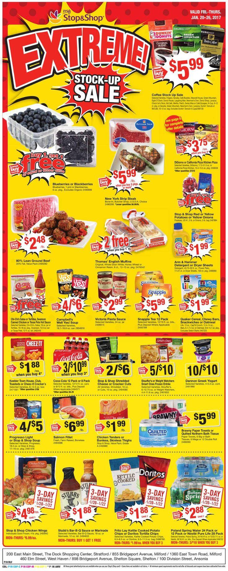 Stop and Shop Circular January 20 - 26, 2017 - http://www.olcatalog.com/grocery/stop-and-shop-circular.html