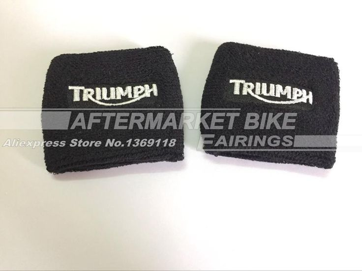 [Visit to Buy] Black Brake Reservoir Socks Covers For For Triumph Daytona 675 600 1000 Street Triple Speed Triple BK Motorcycle Parts #Advertisement