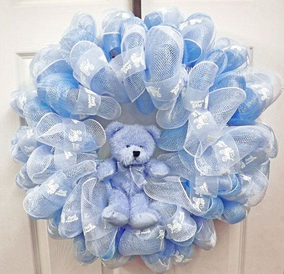 Baby boy wreaths pinterest - Deco boy ...