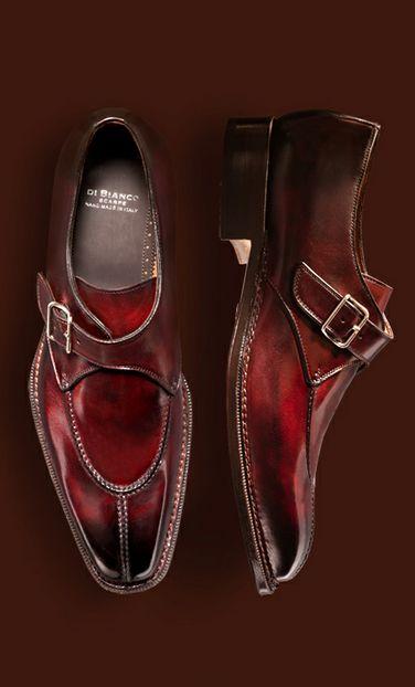feeling the ombre scarpe di bianco monk model