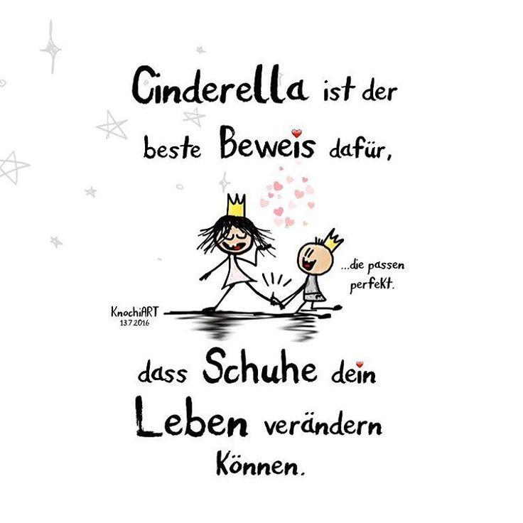 👑 #Cinderella ist der beste #Beweis dafür,dass #Schuhe 👠dein #Leben 💚verändern können. 😍 💟 #herzallerliebst #spruch #Spüche #spruchdestages #motivation #fun #liebe #schuhe #Prinzessin #Aschenputtel...
