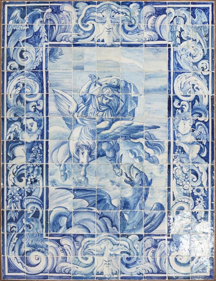 246 best images about azulejos on pinterest blue and white textures patterns and portuguese - Azulejos roman ...