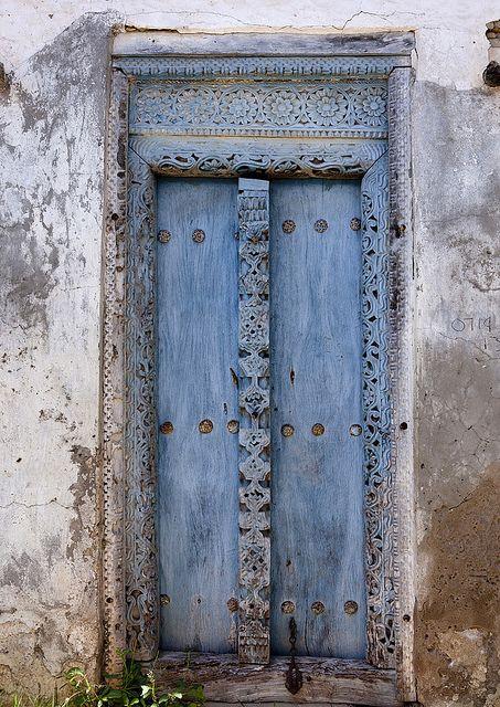 Old door in Bagamoyo, Tanzania. by Eric Lafforgue, via Flickr