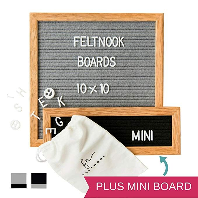 TWO Changeable Letter Boards Including Mini Message Board 346 Felt Board Letters Felt Letter Board Message Set