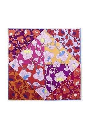 66% OFF KENZO Women's Dancing Flowers Printed Scarf, Red Print