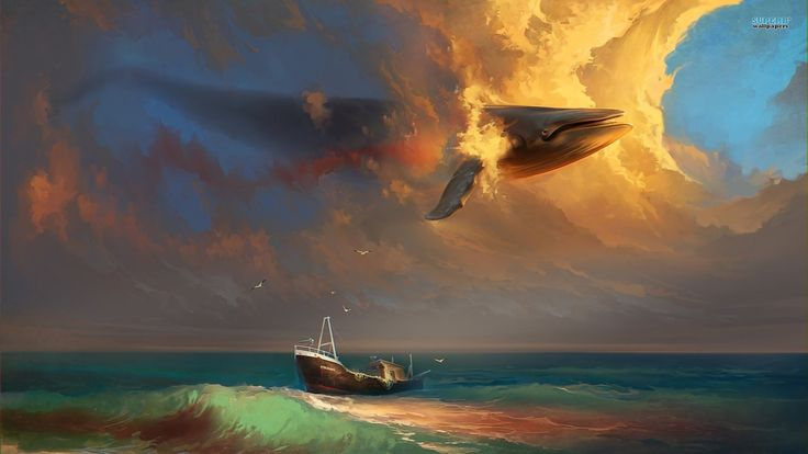 whales in the sky - Google Search