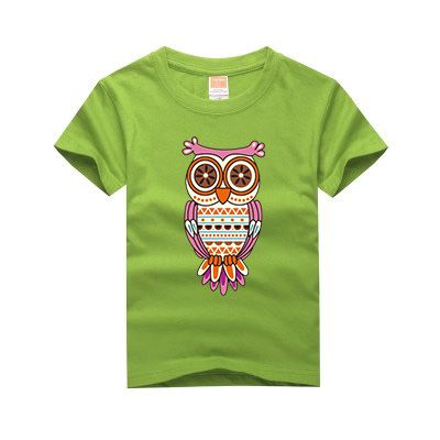 100% Cotton New Family owl printing t shirt boys clothes girls short sleeve t shirts children clothing casual tops tees For 2-13 //Price: $21.81 //     #kids