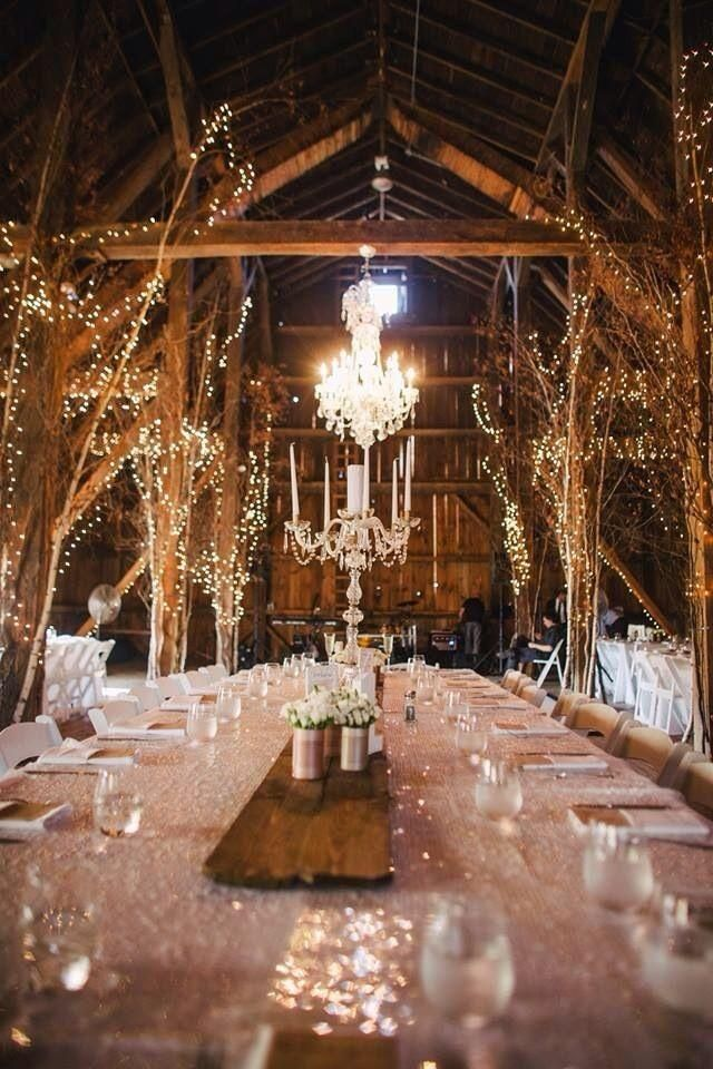 See more about barn weddings, tree branches and fairy lights.