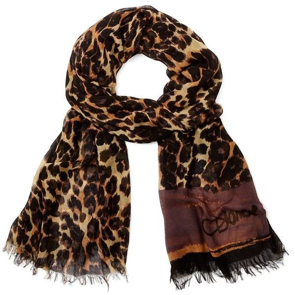 DIANE VON FURSTENBERG Hanovar Modal Printed Scarf found on Polyvore featuring accessories, scarves, snow leopard camo scarf, leopard print shawl, camo scarves, patterned scarves, print scarves and camouflage scarves