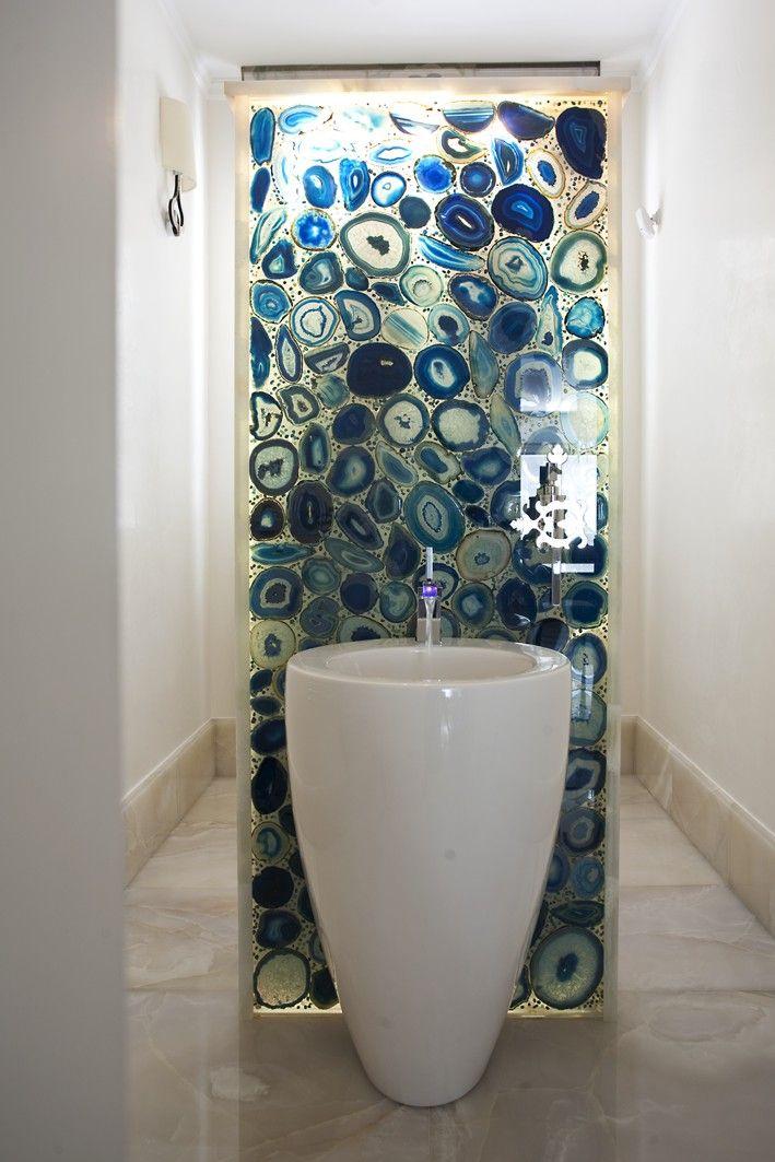 bathroom with precious stones