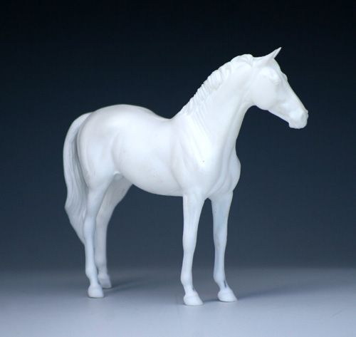 """Living Room Shelves Decorating Idea... Hanoverian created by model horse artist Deborah McDermott. The horse is solid cast in artist's resin and stands 4 3/4"""" at the highest point."""