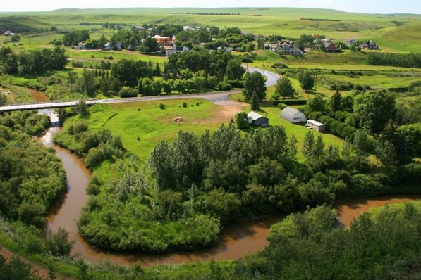 A view over our property and the hamlet, and a link to local attractions!