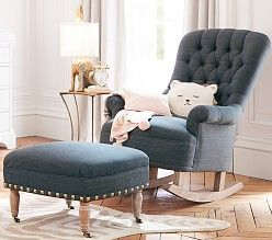 baby furniture nursery chairs and ottomans pottery barn kids