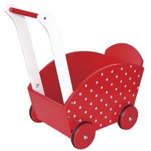 Wózek pchacz czerwony