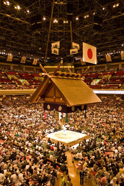 Sumo arena at Kokugikan, Tokyo, Japan!
