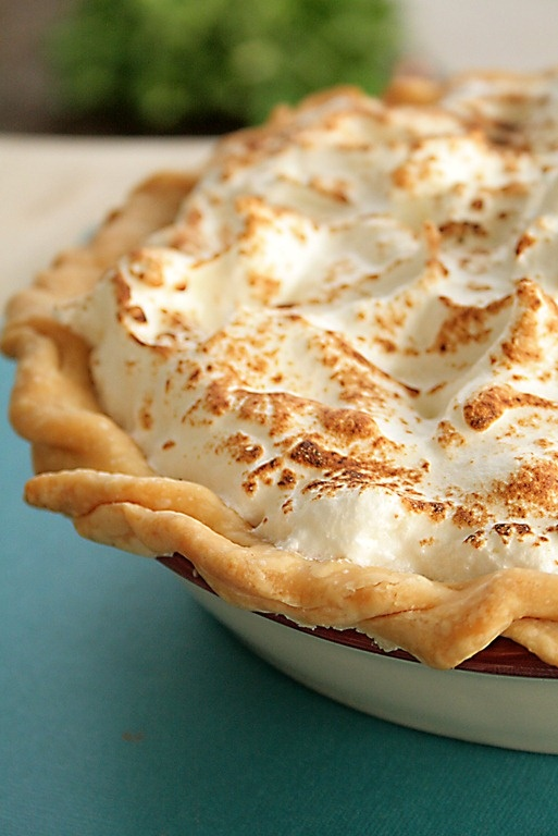Pomegranate and Citrus Marshmallow Meringue Pie