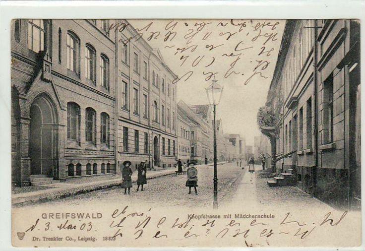 Greifswald Knopfstrasse 1903   eBay