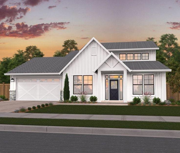 40 Awesome Modern Farmhouse Design House Plans Ideas Page 25 Of 43 Farida Decor Modern Farmhouse Plans Farmhouse Style House Farmhouse Style House Plans