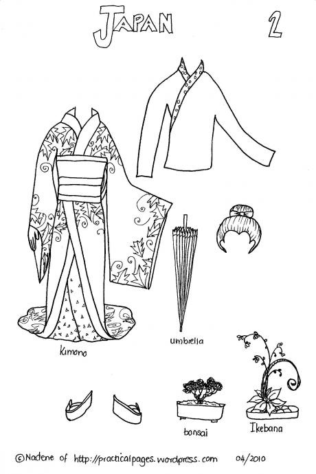 Paper Dolls of Ancient Japan, China, India and North American Indians   Practical Pages