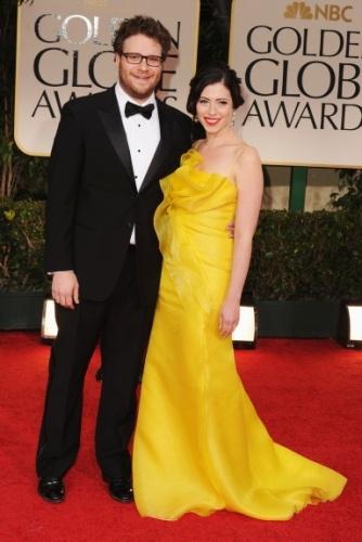 Seth Rogen + Lauren Miller - golden globes 2012