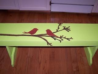 painted bench from artisbeauty.blogspot.com