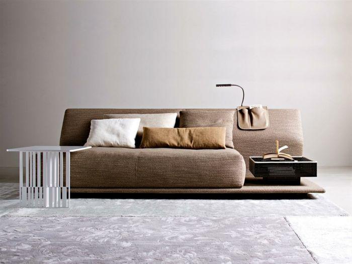 cool ausgefallene sofas modernes braunes sofa dekokissen Check more