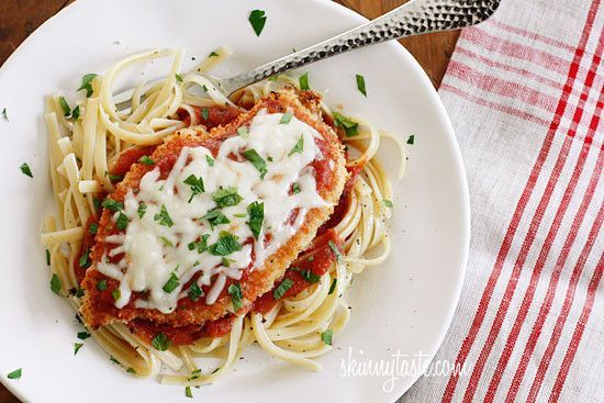 Baked Chicken Parmesan Recipe Lunch, Main Dishes with chicken breasts, seasoned bread crumbs, grated parmesan cheese, butter,…