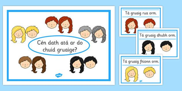 * NEW * Hair Colour Posters Gaeilge