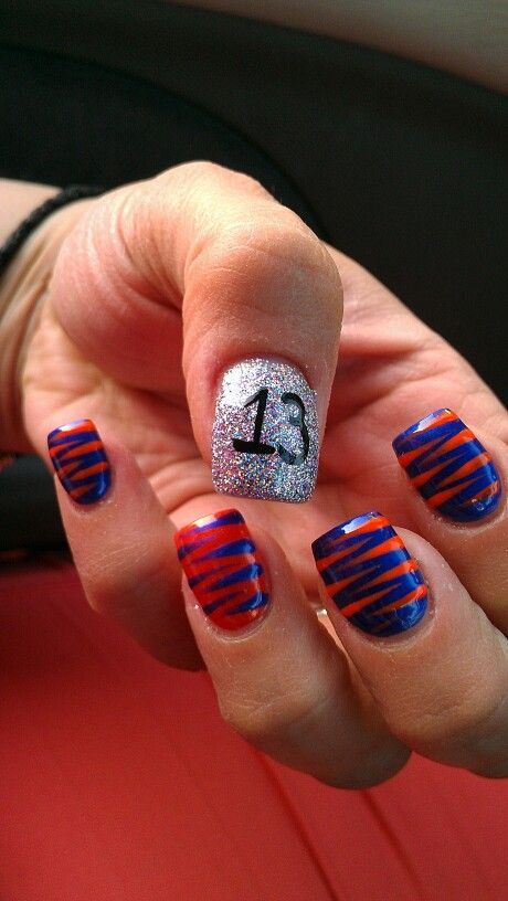 Detroit Tiger baseball nail art by Deana - Best 25+ Baseball Nail Designs Ideas On Pinterest Softball Nails