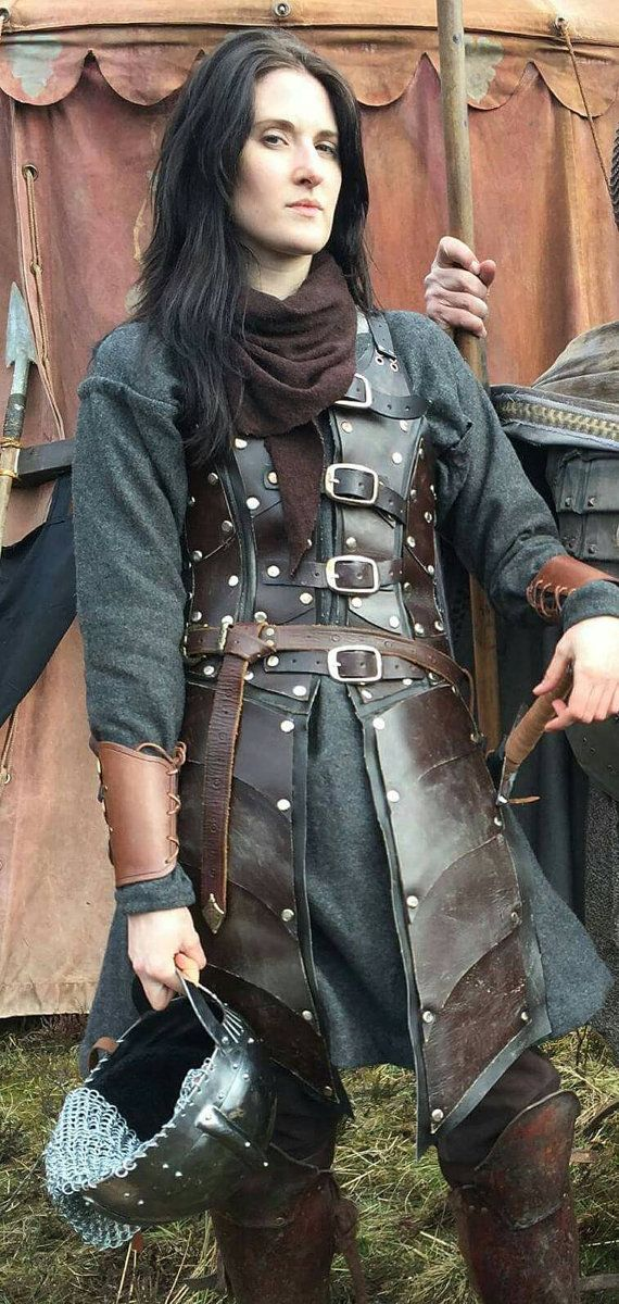 This stunning Cow hide Ladies leather armor dress is used by actors and actresses in movies and theatres,it is also used in games.  This
