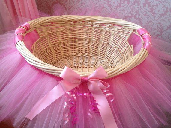 Tutu Basket Tutu Gift Basket Tutu Baby Shower Basket Wedding