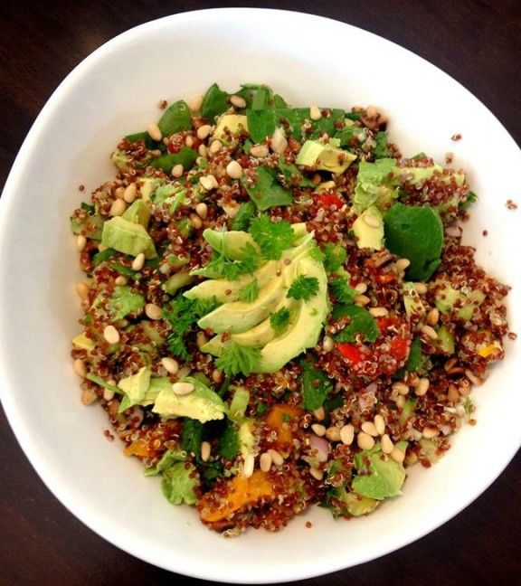 Red Quinoa Rainbow salad cropped