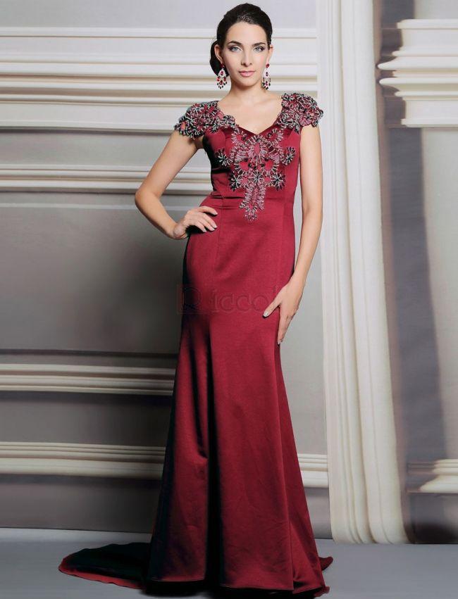 ❀ Red Luxury Long Mermaid Evening Dress | Riccol ❤