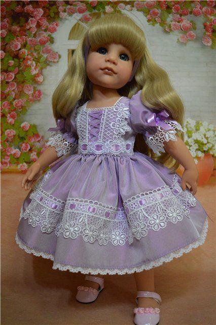 """Платьица для кукол Готц 50см """"Весна в сиреневом"""" / Одежда для кукол / Шопик. Продать купить куклу / Бэйбики. Куклы фото. Одежда для кукол"""