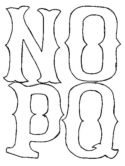 n o p q letters for applique