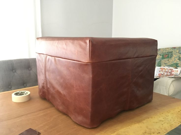 Leather ottoman for my living room