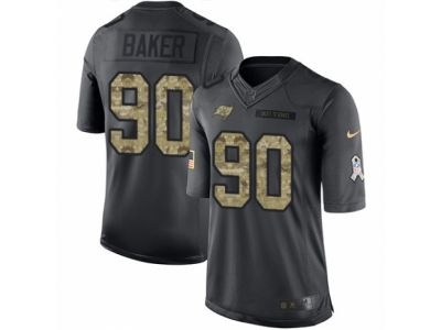 Nike Tampa Bay Buccaneers 90 Chris Baker Limited Black 2016 Salute to Service NFL Jersey