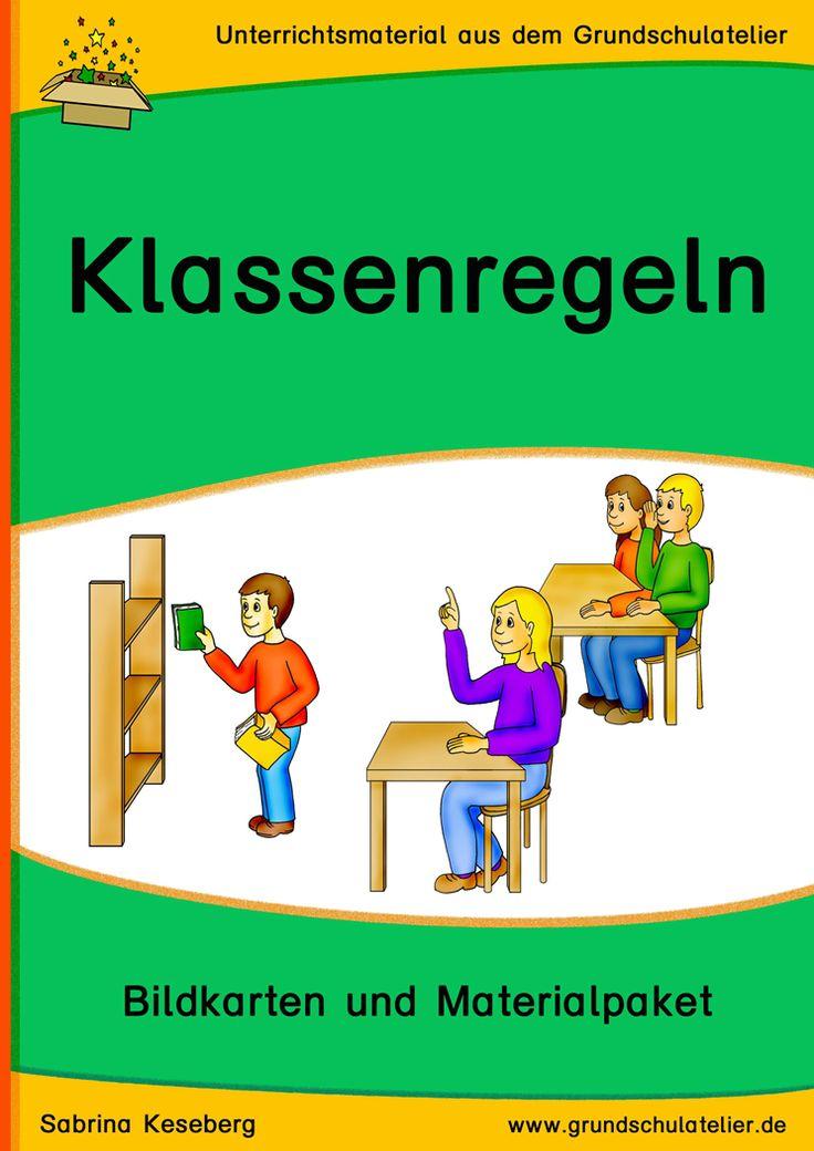 Lehrerhilfen für den Schulalltag: Materialpaket zum Thema Klassenregeln/Unterrichtsstörungen: Klassenregel-Bildkarten und mehr 67 Seiten, pdf-Format, ab Klasse 1