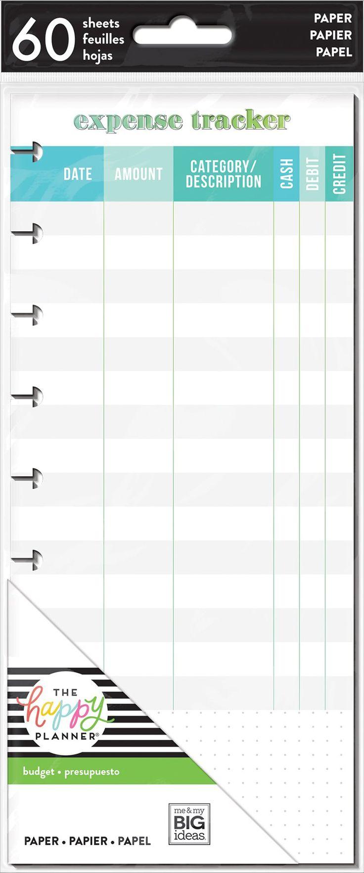 Expense Tracker - Half Sheet - Classic
