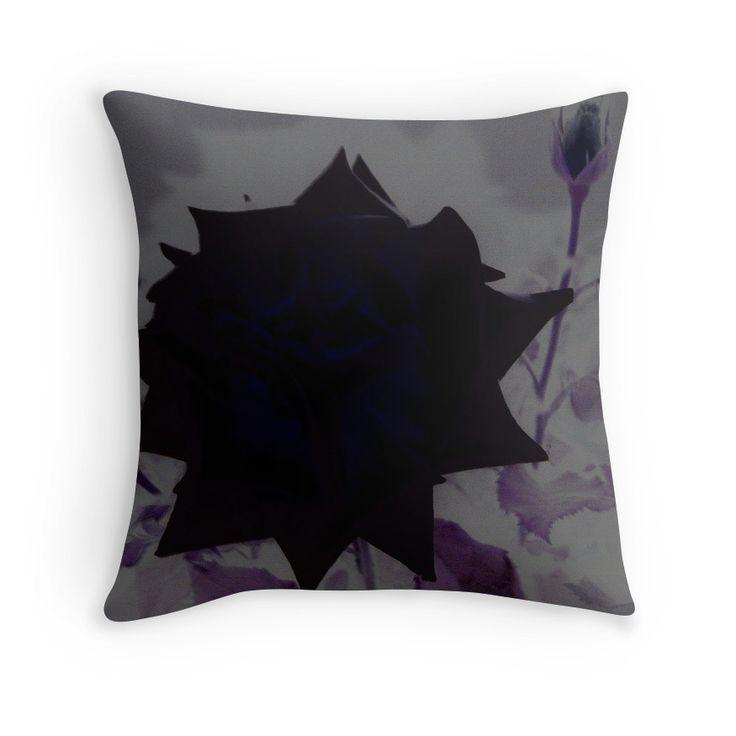 blue rose #pillow #homedecor