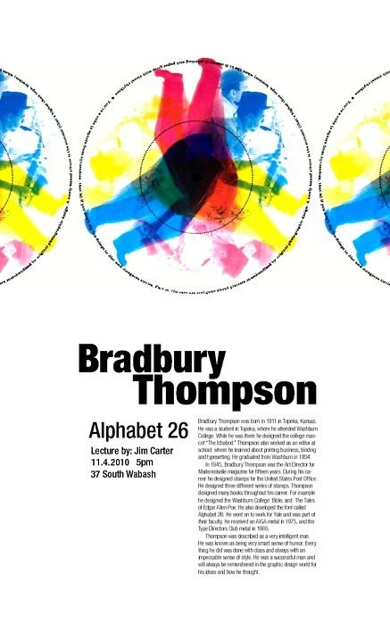 Bradbury Thompson by Ainsley Nunez, via Behance