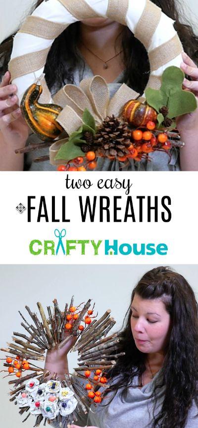 Two easy fall wreath DIYs