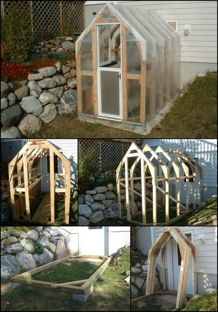 25 beautiful homemade greenhouse ideas on pinterest for Easy to make greenhouse